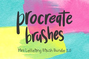 Procreate Lettering 4-Brush Bundle 2