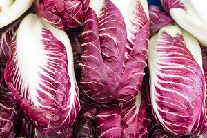 Radicchio on display at the market