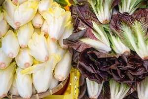 Fresh radicchio on display