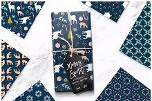 Christmas Spirit Seamless Patterns
