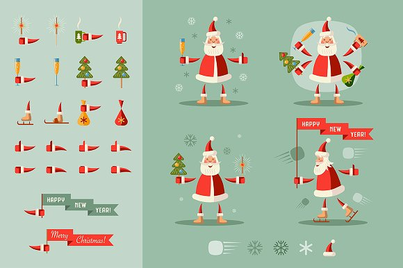 Santa Clauses set