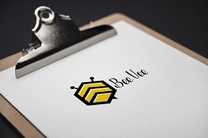 Bee Vee Logo Template