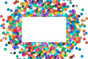 2 Rectangular frame with confetti