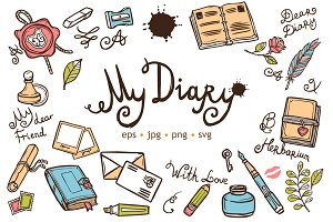 Diary Sketch Scrapbook Set