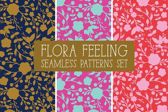 FLORA FEELING Seamless Patterns