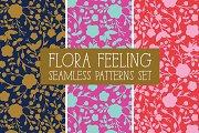 FLORA FEELING Seamless Patterns