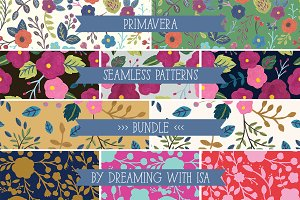 PRIMAVERA Seamless Patterns Bundle