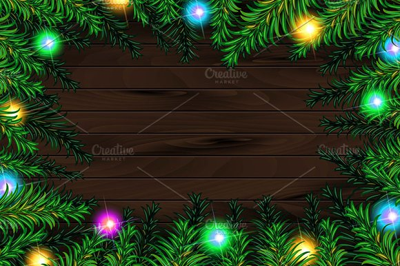 3 Christmas tree background in Graphics - product preview 1