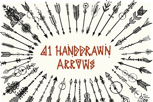 41 Hand drawn boho arrows