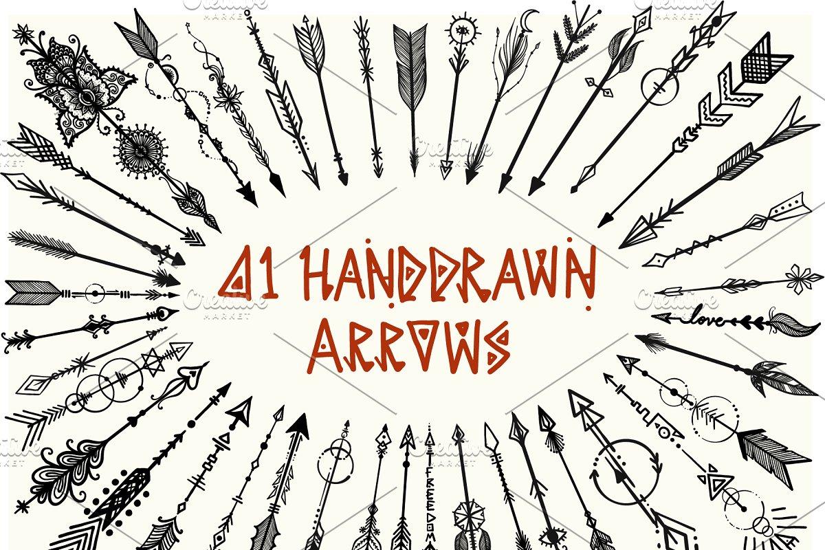 300b0d69adb40 41 Hand drawn boho arrows ~ Illustrations ~ Creative Market