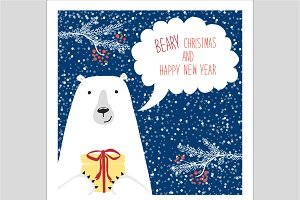 Cute polar bear card