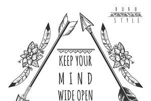 Wild freedom background with arrows