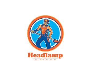Headlamp Coal Miners Union Logo