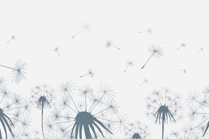 Dandelion field seamless background