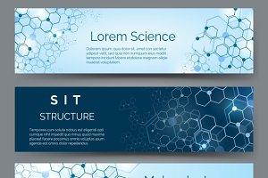 Molecular structure banner set