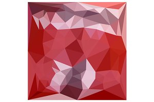 Pale Violet Red Abstract Low Polygon