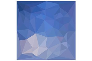 Powder Blue Abstract Low Polygon
