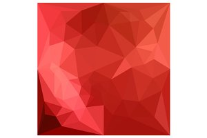 Tomato Red Abstract Low Polygon