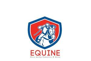 Equine Horse Jockey Union Logo