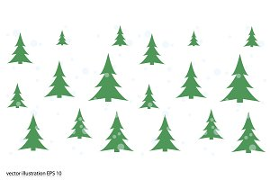 fir-trees and snow