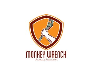 Monkey Wrench Plumbing Logo
