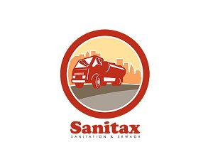 Sanitax Sanitation and Sewage Logo