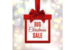 Big Christmas sale background.