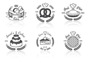 Vintage bakery emblems. Part 3