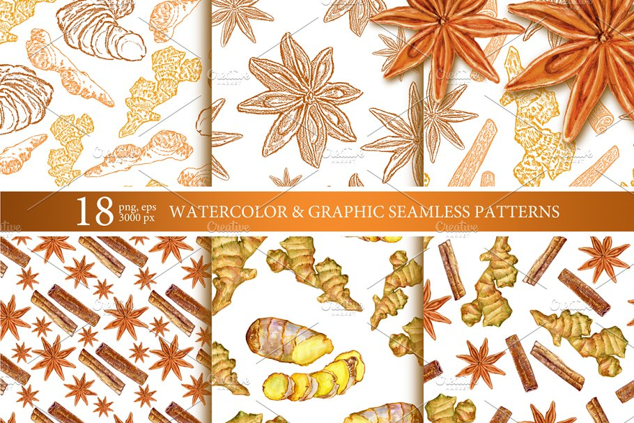 Spice patterns collection in Patterns - product preview 8