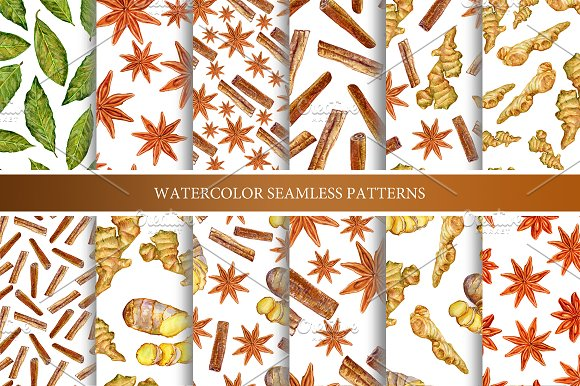 Spice patterns collection in Patterns - product preview 1