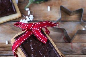 Chocolate Christmas cookie