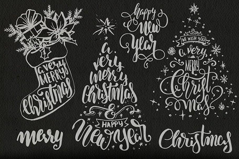 Christmas Lettering.Christmas Lettering Illustrations Creative Market