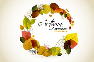Collection of autumn backgrounds