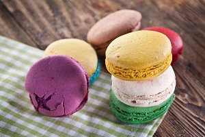 Colourful french macaron