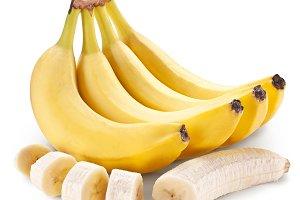 Banana fruit with banana pieces