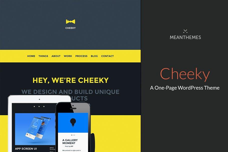 Cheeky: A One-Page WordPress Theme