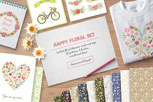 Happy Floral Set