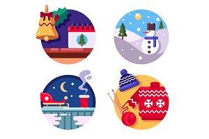 Winter fun holiday Christmas