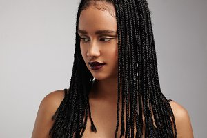 Black woman with african braids