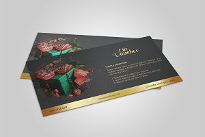 Christmas Gift Voucher template-V04