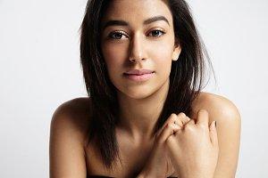 beauty brunette woman