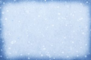 Blue sparkling snow background