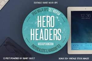 Hero Headers Ipad Mock-ups Set #4