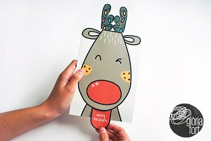 Rudolph _ pop-up christmas card