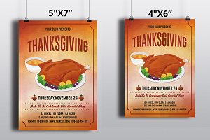 Thanksgiving Flyer Template-V435