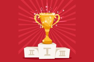 Golden award prize cup