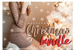 100 Christmas Photoshop Overlays