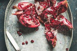 Fresh ripe pomegranate