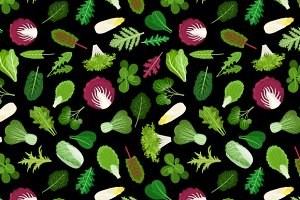 Salad vegetable pattern