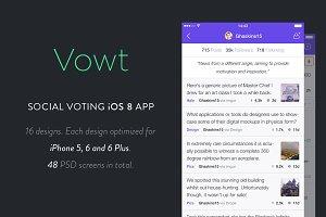 Vowt - Social Voting iOS 8 App